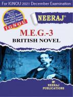 MEG3, British Novel (English Medium), IGNOU Master of Arts (English)(MEG) Neeraj Publications | Guide for MEG-3 for December 2021 Exams with Sample Papers