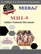 MHI9, Indian National Movement (English Medium), IGNOU Master of Arts (History)(MAH) Neeraj Publications | Guide for MHI-9 for December 2021 Exams with Sample Papers
