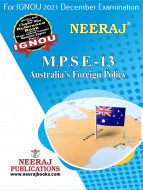 MPSE13, Australia's Foreign Policy (English Medium), IGNOU Master of Arts (Political Science) (MPS) Neeraj Publications | Guide for MPSE-13 for December 2021 Exams with Sample Papers