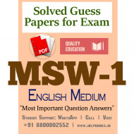 MSW1 IGNOU Solved Sample Papers/Most Important Questions Answers for Exam-English Medium