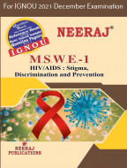 MSWE1, HIV/AIDS: Stigma, Discrimination and Prevention (English Medium), IGNOU Master of Social Work (MSW) Neeraj Publications | Guide for MSWE-1 for December 2021 Exams with Sample Papers