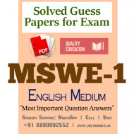 MSWE1 IGNOU Solved Sample Papers/Most Important Questions Answers for Exam-English Medium