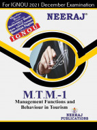 MTTM1, Management Functions and Behaviour in Tourism (English Medium), IGNOU Master of Tourism and Travel Management (MTTM) Neeraj Publications | Guide for MTTM-1 for December 2021 Exams with Sample Papers