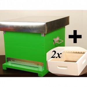 OFERTA SPECIALA - Stupul CUBOBOX + 2x Magazie 1/2, cuib pe 10 rame dadant