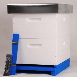 OFERTA SPECIALA - Stupul Multietajat COMPLET (2xmagazie 3/4, 20 rame insarmate, hranitor, gratie hanemann)