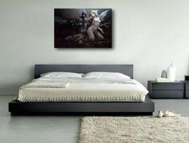 Tablou canvas efect painting - inger si demon