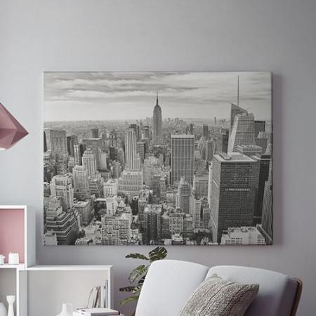 Tablou Canvas Orasul gri