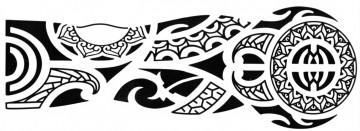 Tatuaj temporar -elemente tribale mana- 15X40cm