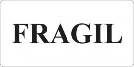 Etichete personalizate cu FRAGIL, 100 buc, PVC, rezistente la apa