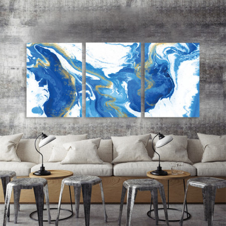 Set 3 tablouri - Golden Rivers