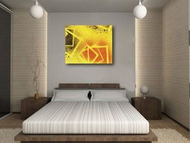 Poze Tablou canvas - abstract yellow