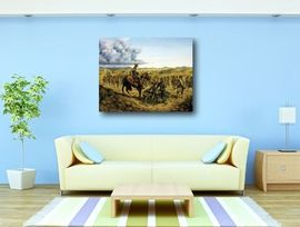 Tablou canvas efect painting - razboi 02