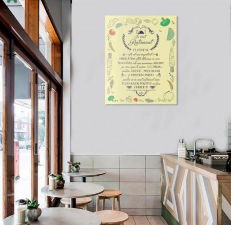 Tablou canvas - In Acest Restaurant - Chenar de Legume