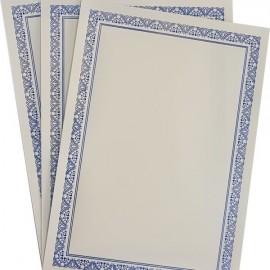 Diploma A4 tipizat cu folio auriu, argintiu si albastru, 50 bucati