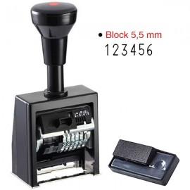 Stampile tip numarator, B6K, 6 cifre, Reiner
