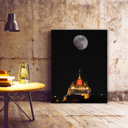 Tablou Canvas Full Moon (black)