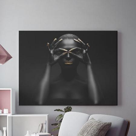 Tablou Canvas Golden tribal 1