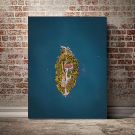 Tablou Canvas Insula vazuta de sus