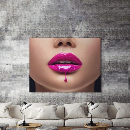 Tablou Canvas Liquid Pink