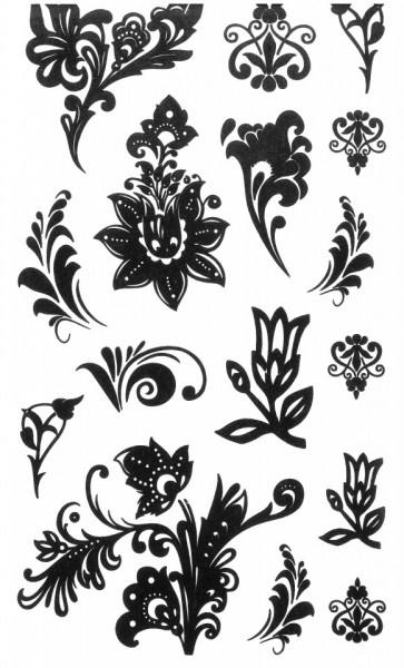Tatuaj temporar -flower art- 10x17cm