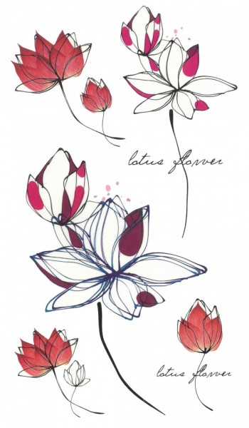 Tatuaj temporar -lotus flower- 17x10cm