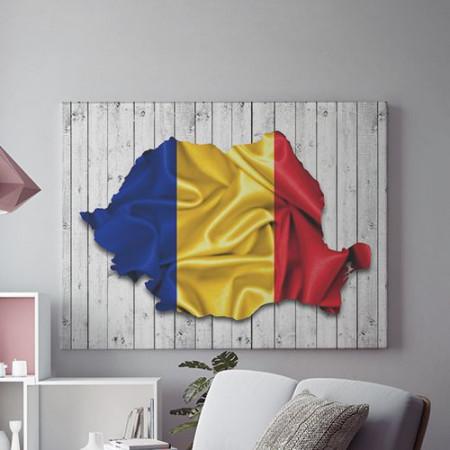 Romania steag si contur