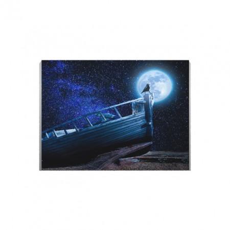 Tablou Canvas Barca Esuata Sub Clar De Luna