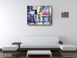 Tablou canvas efect painting - nud