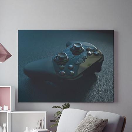 Tablou Canvas Joystick Albastru