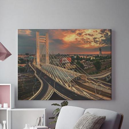 Tablou Canvas Pod peste Bucuresti