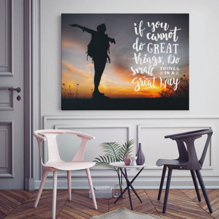 Tablou motivational - Small things in a great way