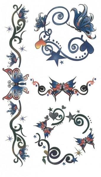 Tatuaj temporar -Colectie Fluturi- 17x10cm