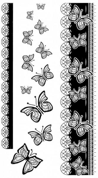 Tatuaj temporar -fluture- 10x17cm