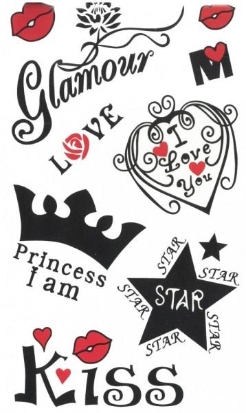 Tatuaj temporar -Glamour- 17x10cm
