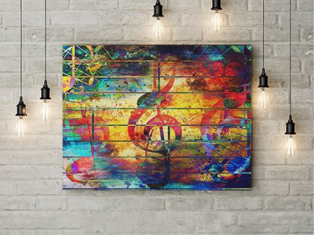 Tablou Canvas Colorful Note