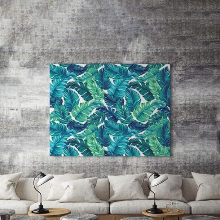 Tablou Canvas Frunze Albastre