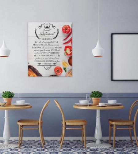 Tablou canvas - In Acest Restaurant - Legume si condimente