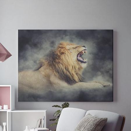 Tablou Canvas Raging lion