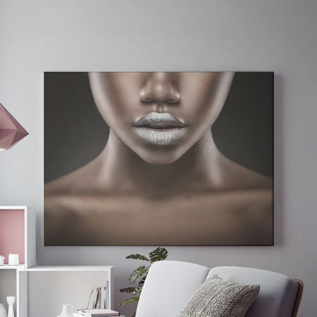 Tablou Canvas Silver lips