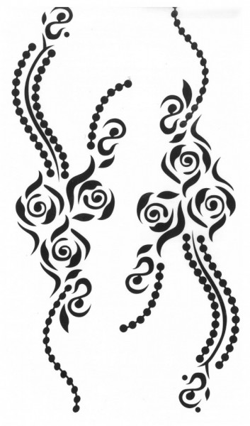 Tatuaj temporar - floral bracelets- 17x10cm