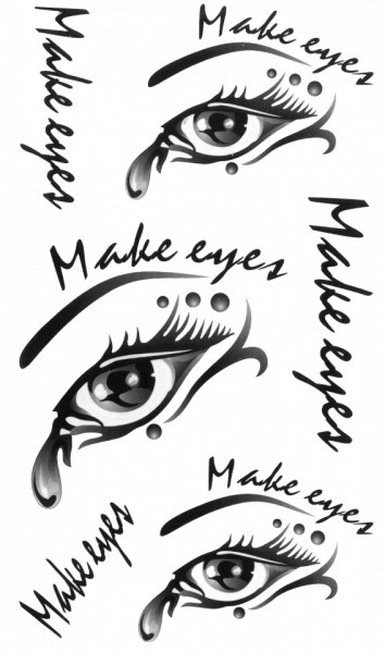 Tatuaj temporar -Make Eyes- 17x10cm