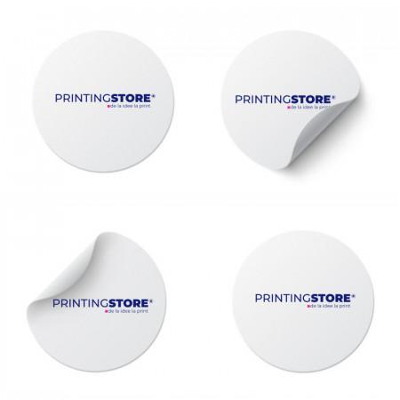 Eticheta personalizata cu logo sau text la alegere, rotunde - 100buc/set
