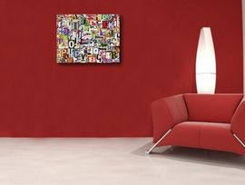 Poze Tablou canvas - abstract litere