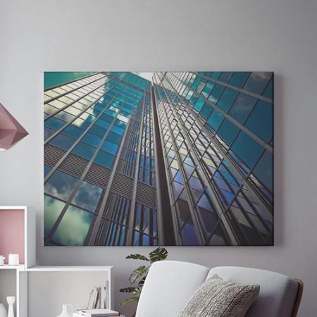 Tablou Canvas Blue Geometry