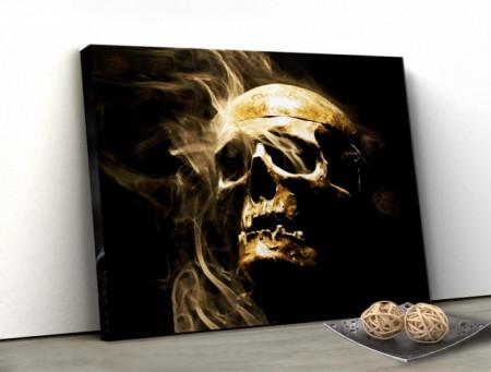 Tablou canvas - Craniu si fum