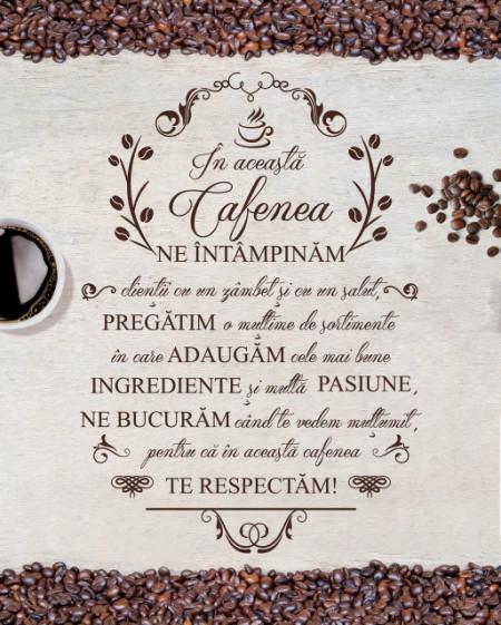 Tablou canvas - In Aceasta Cafenea Boabe de Cafea