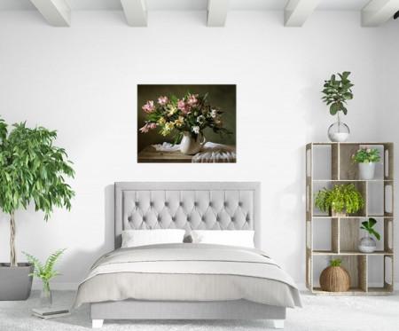 Tablou canvas - Vaza cu crini