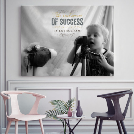 Tablou motivational - The real secret of success