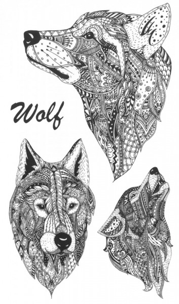 Tatuaj temporar -craft wolf- 17x10cm