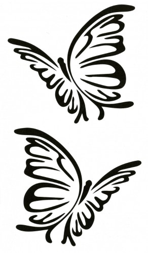 Tatuaj temporar -fluturasi stilizati- 17x10cm